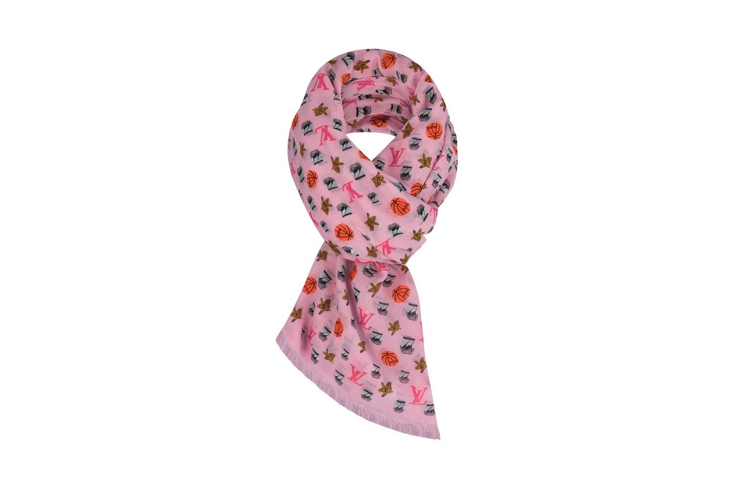 LOUIS VUITTON X JONAS WOOD MONOGRAM STOLE PINK_resize