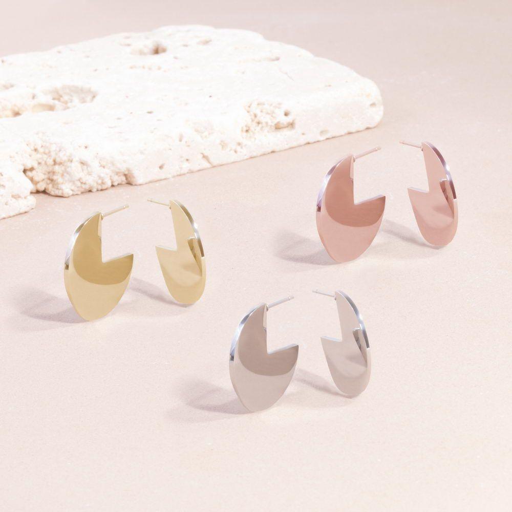 Mia Jewelry_Brincos Modern Disk em aço, dourado e rose gold_PVP 24€_resize