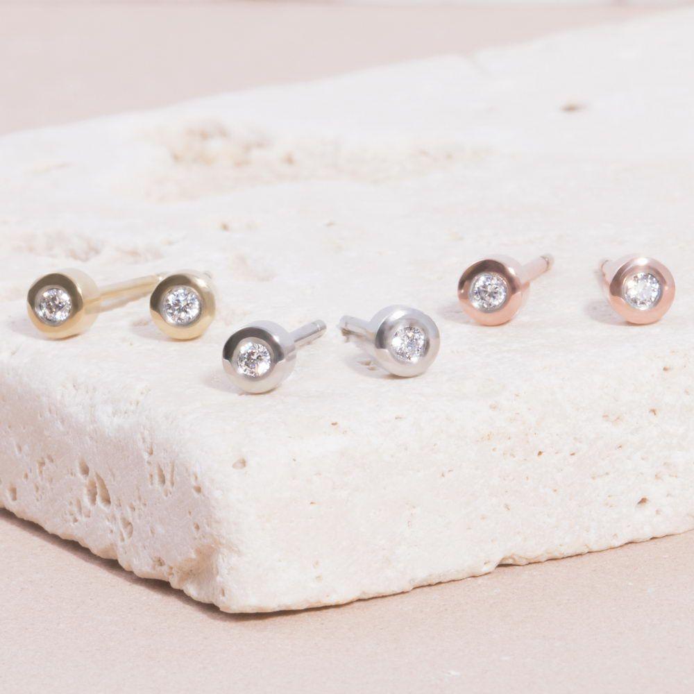 Mia Jewelry_Brincos Round Stone 3mm em aço, dourado e rose gold_PVP 24€_resize