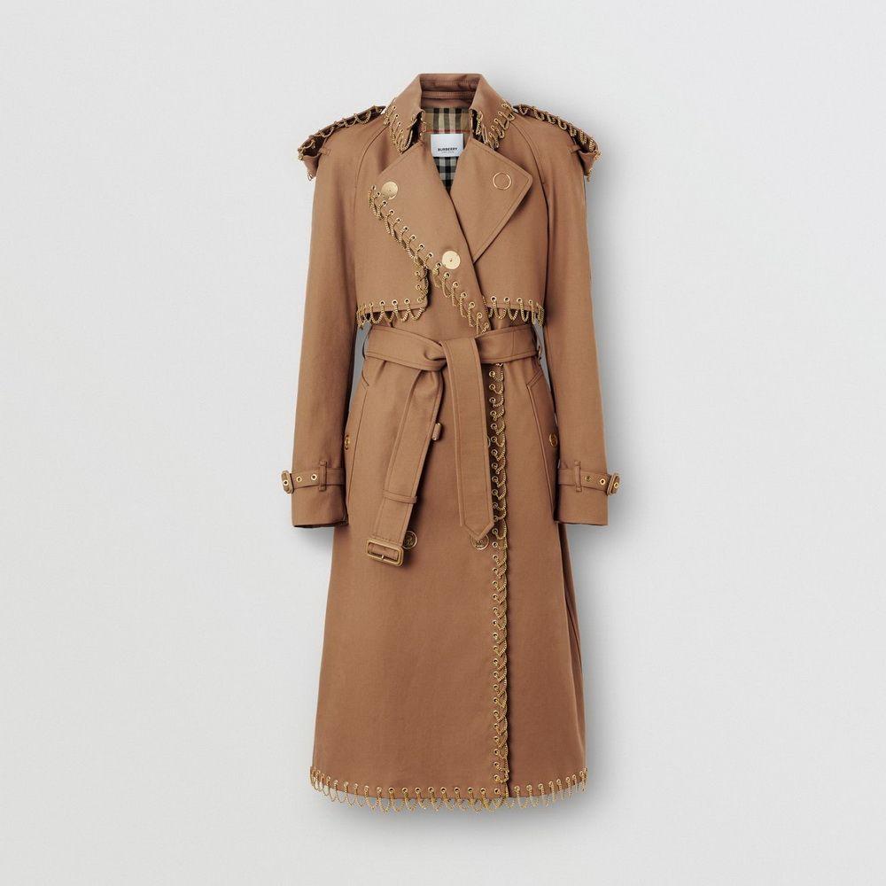 Trench coat de gabardine de algodao com detalhe de corrente_women_resize
