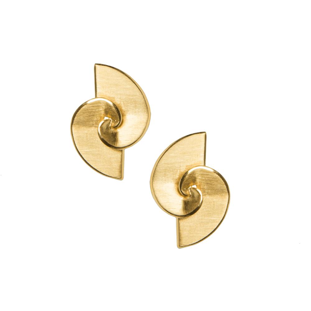 Vanglória - Brincos Golden Spiral II em prata dourada PVP 159,90€_resize