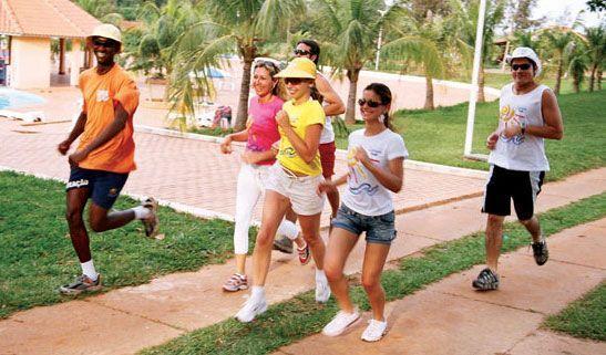 Pratique exercício ao ar livre