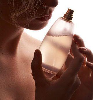 Para testar um perfume...