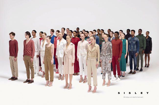 A Geometria da Moda - Vanessa Beecroft para Sisley PV 2017