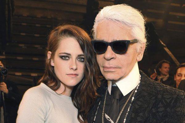 Kristen Stewart e Karl Lagerfeld: o costureiro considera a actriz uma verdadeira musa