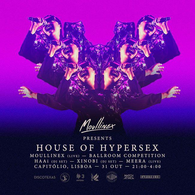 Palladium apoia House of Hypersex de Moullinex a 31 de Outubro