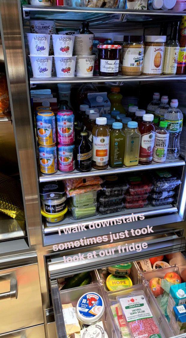 O que Bella Hadid guarda no seu frigorífico