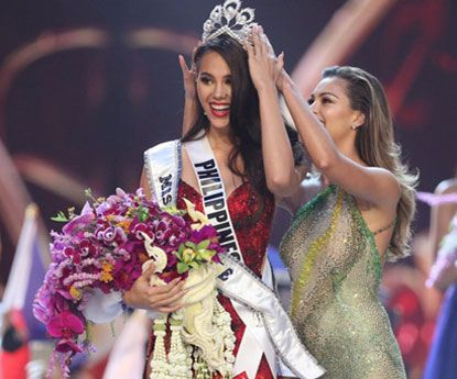 Miss Filipinas Catriona Grey eleita como Miss Universo 2018