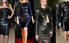 Como combinar na perfeição um vestido de couro