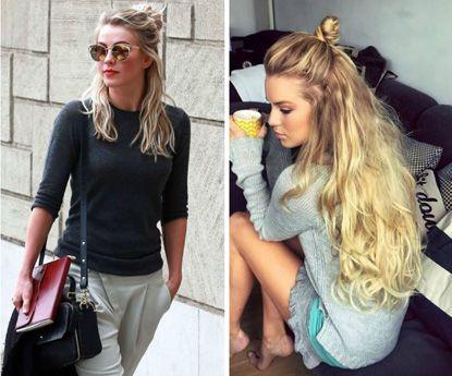 """Estes são os melhores penteados e estilos """"haf bun"""""""