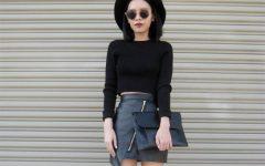 30 razões para usares saia de couro preta no Inverno
