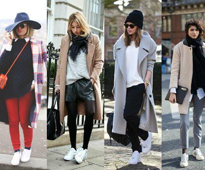 20 looks incríveis com sapatilhas brancas para variares