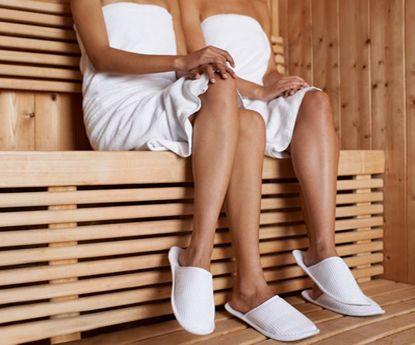 A nova tendência das celebridades na sauna: a selfie