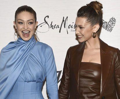 Gigi e Bella Hadid deslumbram no mesmo photocall