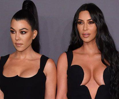 Kim Kardashian e o bolo de Kourtney Kardashian nua