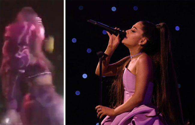 Atiram limão a Ariana Grande em pleno concerto