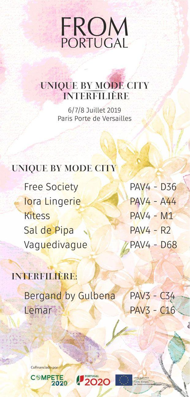 Portugal nas feiras Unique By Mode City e Interfilière