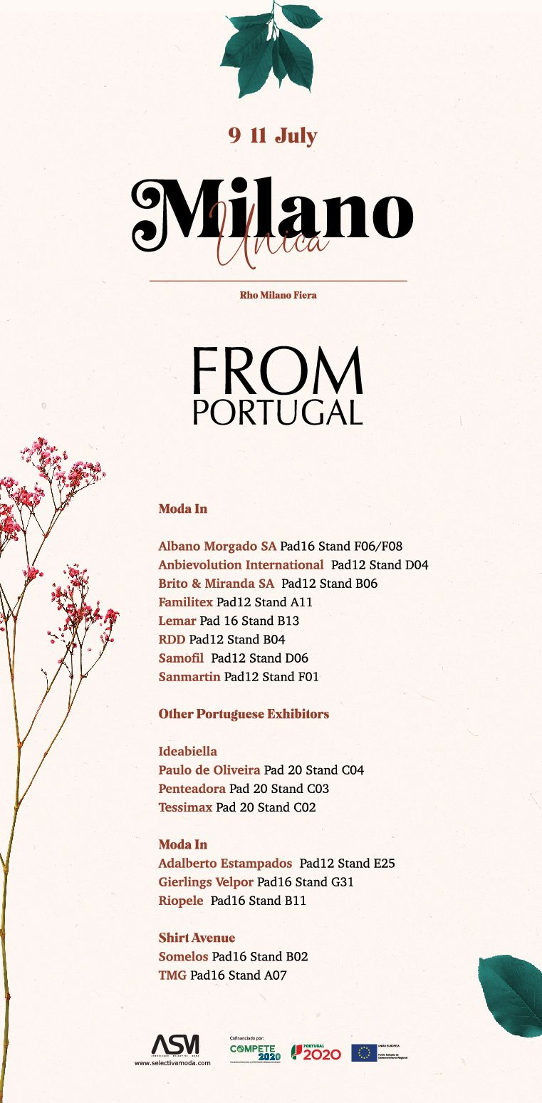 """Tecidos e acessórios """"From Portugal"""" na feira Milano Única"""