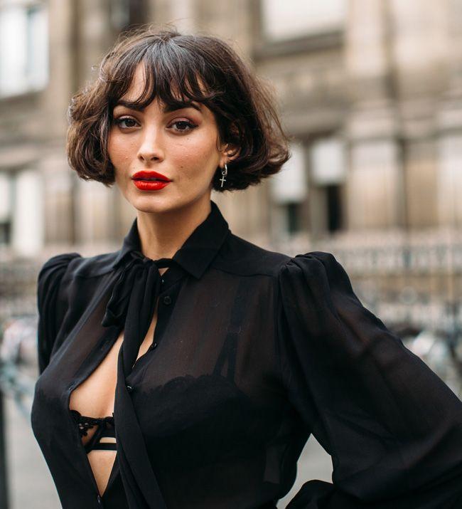 Bob: corte street style na Semana de Moda de Paris