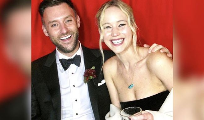 O casamento de Jennifer Lawrence e Cooke Maroney