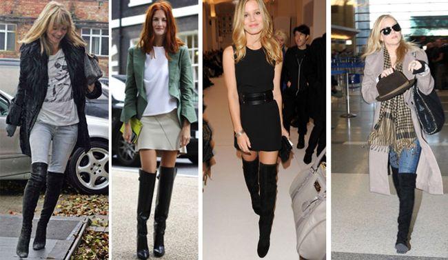 15 looks perfeitos para usares com botas acima do joelho