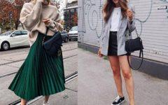 Sugestões de outfits com saias e sapatilhas ao teu estilo