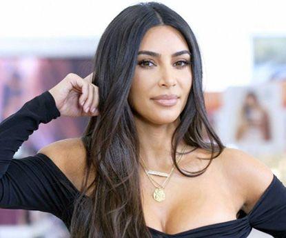 Kim Kardashian loira para promoção do seu projecto
