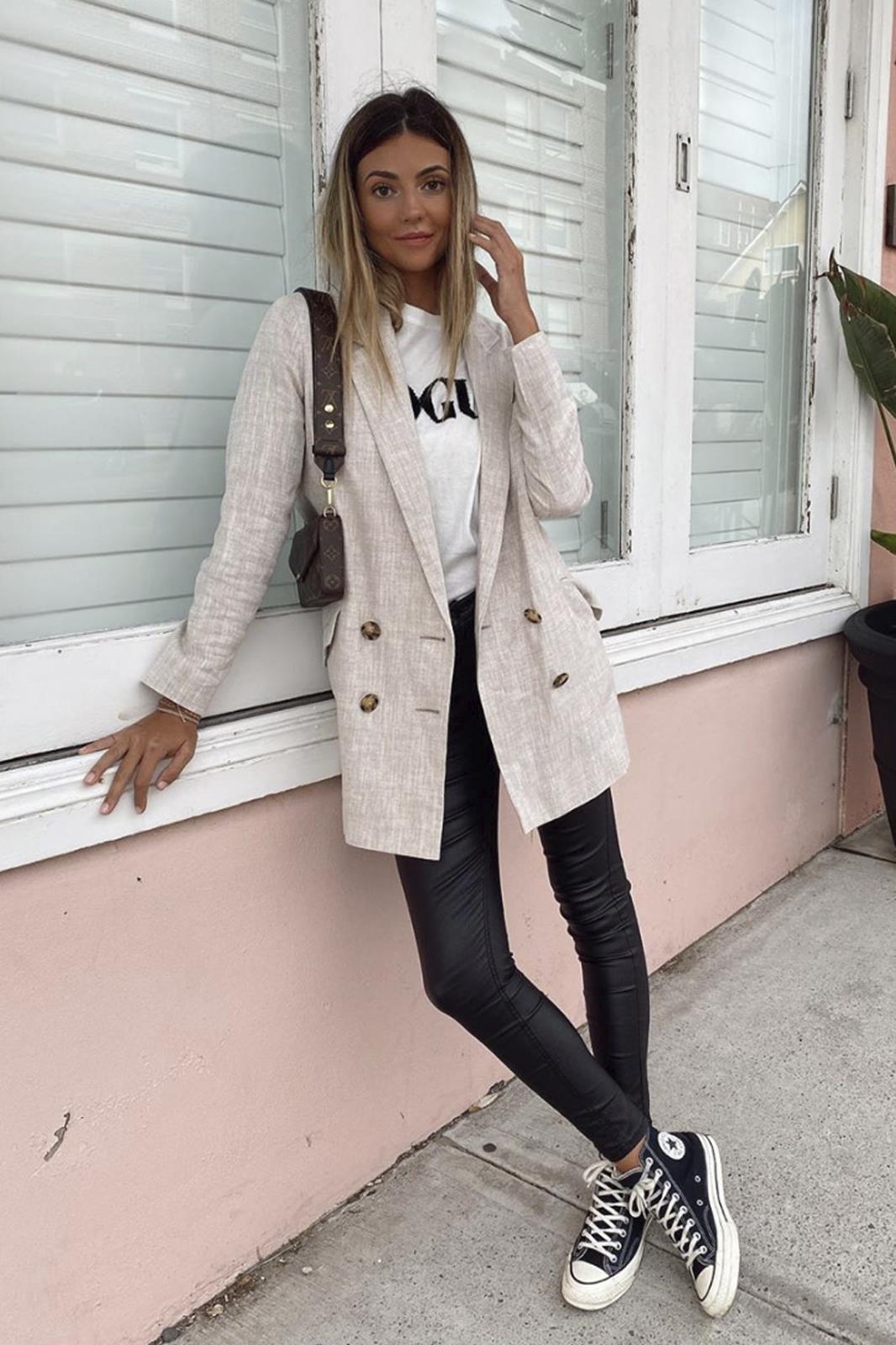 10 looks com calças de couro que te vão apaixonar