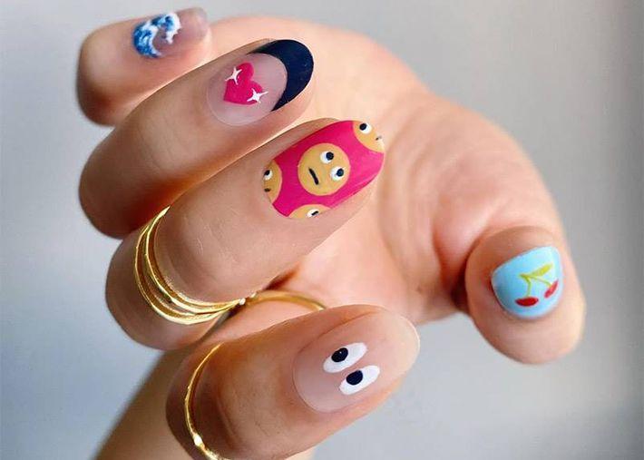 Esta é a tendência de manicura mais divertida para as tuas unhas