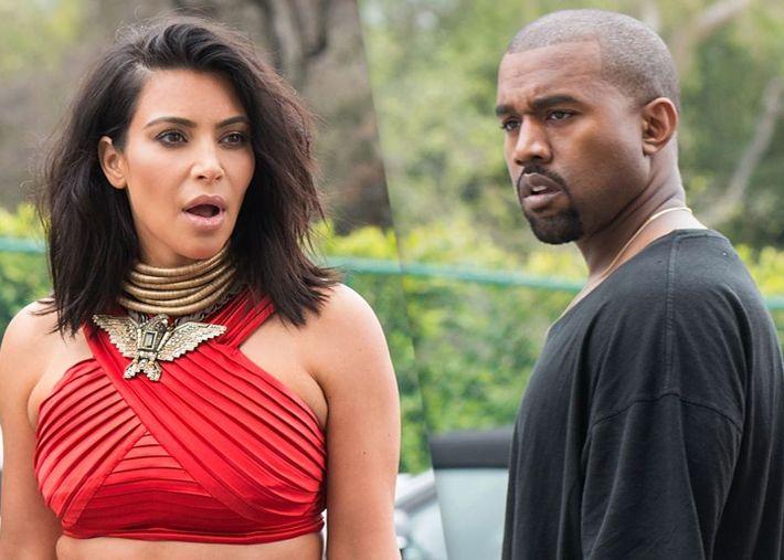 Kim Kardashian e Kanye West em rota de divórcio