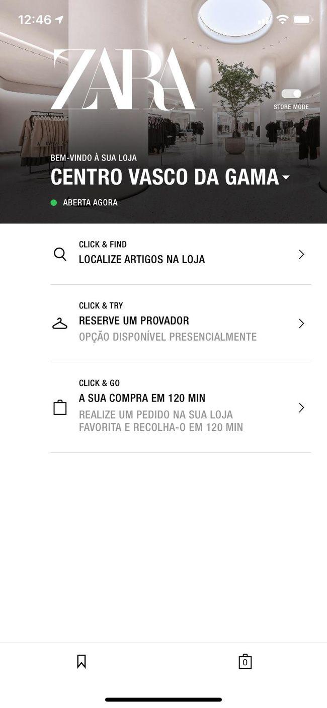 Provadores da Zara podem ser reservados online