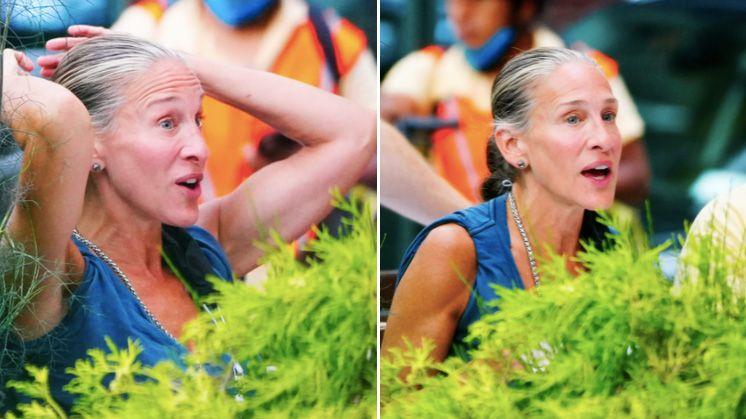 Sarah Jessica Parker surpreende mostrando os seus cabelos grisalhos