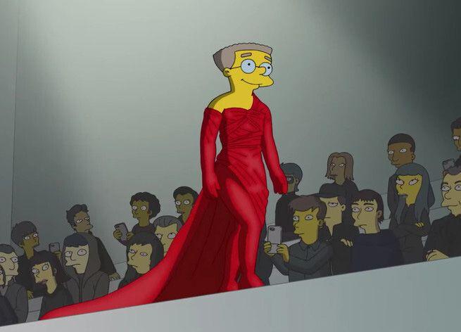 Os Simpsons na Semana de Moda de Paris em Balenciaga